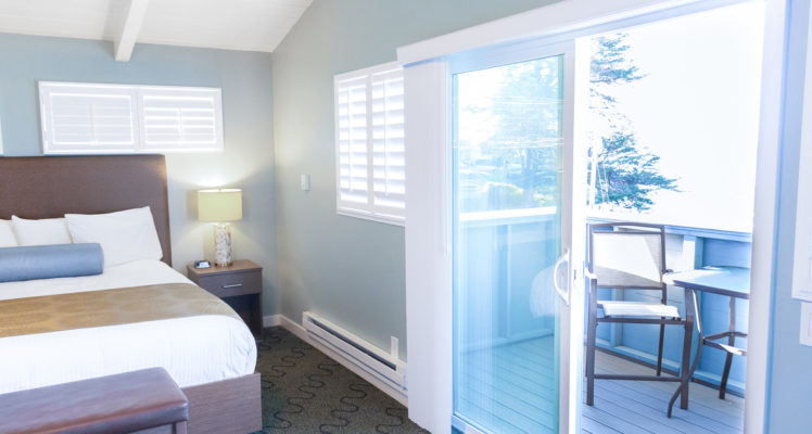 Captains' Quarters Room offers an ocean view private balcony.