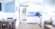 Gull Cottage is complete with a kitchen and dining area. Sleeps four and is pet friendly.