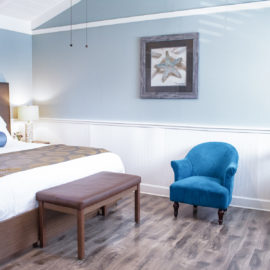 Sea Star Room has a King bed, full kitchen and private bath, and is pet friendly.